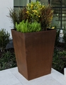 Cor-Ten Steel Pyramid Planter