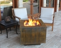 Square Cor-Ten Steel Hidden Tank Fire Pit