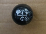 NEW BLACK 4 SPEED SHIFT KNOB PUSH ON TYPE FITS MERCEDES W108 W110 W111 W113