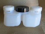 Brake master fluid reservoir container with caps 0004316402 0014314202