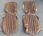Brown front seat covers fits mercedes 230sl 250sl 280sl 113 w113 63 to 71