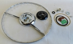 Chrome horn ring black emblem kit fits mercedes 190sl 190 sl w121 ponton
