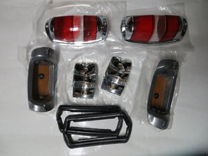 Complete pair Red taillights fits Mercede w121 w120 190sl Ponton