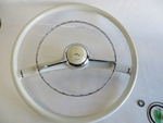 Complete Steering wheel Chrome horn ring emblem kit for 190sl w121 Ponton Benz
