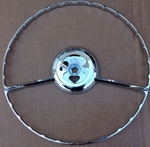 NEW CHROME HORN RING FITS 190SL W121