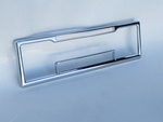 New Chrome over steel bezel face plate for mercedes Porsche classic Becker Europa car radio
