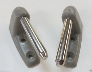 Pair of Grey Sunvisor Clips Fits MERCEDES Cabriolet w111 300 280 250 220 SE