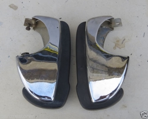 Pair of used Mercedes W113 230SL 280SL Front Bumper Guard ('65-'71)