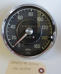 REBUILT 160 MP/H SPEEDOMETER GAUGE 0065427506