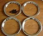 w108 w110 w111 w112 w113 wheel trim rings NOS