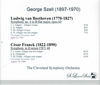 George Szell, Vol. III        (St Laurent Studio YSL 78-394)