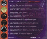 Vocal Record Collectors' Society -  2005 Issue         (VRCS 2005)