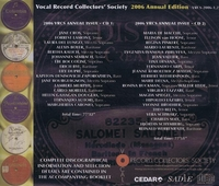 Vocal Record Collectors' Society – 2006 Issue         (2-VRCS 2006)