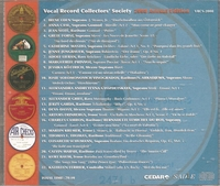Vocal Record Collectors' Society - 2008 Issue        (VRCS 2008)