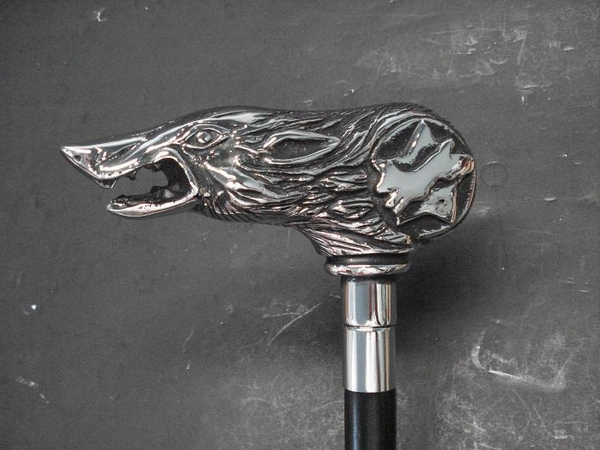 Chrome Wolfman Cane Original Size Chromed or NEW Patina Finish....In Stock