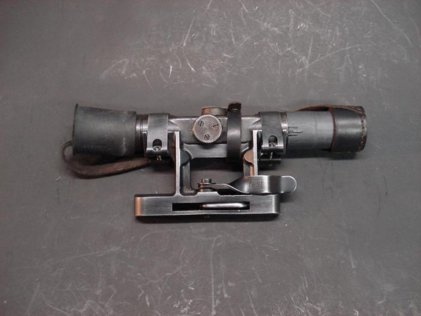 ORIGINAL GERMAN ZF 4 SNIPER SCOPE AND MOUNT FOR THE FG42 and G/K43 RIFLE