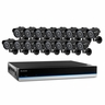 Defender Blueline 16CH Security DVR with 500GB of storage,  600TVL Cameras with 75ft Long-Range Night Vision and Remote Smart Phone Viewing