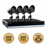 Defender BlueLine 4 Channel x 4 Camera Ultra Hi-Res DIY Security System with Real-Time Smartphone Viewing, 500GB Hard Drive & 75ft Night Vision