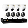 Defender® HD 1080p 8 Channel 1TB DVR Security System and 4 Dome and 4 Bullet Long Range Night Vision Cameras with Web and Mobile Viewing