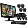 "Defender PRO Sentinel 8CH H.264 1 TB Smart Security DVR with 8 Ultra Hi-res Indoor/Outdoor Surveillance Cameras, Smart Phone Compatibility and 19"" LED Monitor (21139)"
