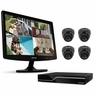 "Defender Sentinel 8CH H.264 1 TB Smart Security DVR with 4 Ultra Hi-res Indoor/Outdoor Surveillance Cameras, Smart Phone Compatibility and 19"" LED Monitor (21138)"