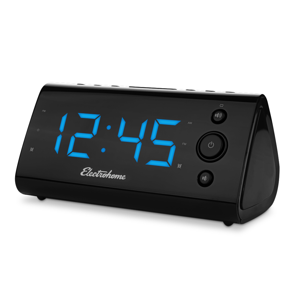 electrohome alarm clock radio with usb charging for. Black Bedroom Furniture Sets. Home Design Ideas