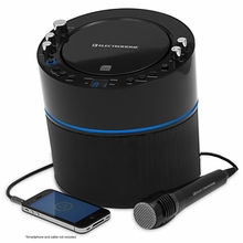 Electrohome EAKAR300 Karaoke CD+G Player Speaker System with MP3, Smartphone, Tablet, and 2 Microphone Inputs