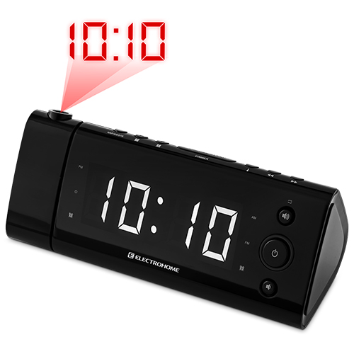 electrohome usb charging alarm clock radio for smartphones and tablets with t. Black Bedroom Furniture Sets. Home Design Ideas