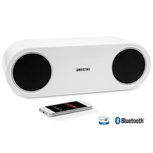 Fluance Fi30-W High Performance Wireless Bluetooth Wood Speaker System with aptX Enhanced Audio (Glacier White)