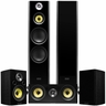 Fluance Signature Series Hi-Fi 5.0 Surround Sound Home Theater Speaker System Including Three-way Floorstanding Towers, Center & Rear Speakers (HFHTB) � Onyx Black