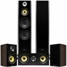 Fluance Signature Series Hi-Fi 5.0 Surround Sound Home Theater Speaker System Including Three-way Floorstanding Towers, Center & Rear Speakers (HFHTBW) � Natural Walnut