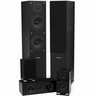 Fluance SXHTB-BK High Definition Surround Sound Home Theater 5.0 Channel Speaker System including Floorstanding Towers, Center and Rear Speakers