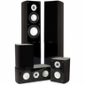 Fluance XL5HTBDW High Performance 5.0 Surround Sound Home Theater Speaker System Including Three-way Floorstanding Towers, Center & Rear Speakers (XL5HTBDW)
