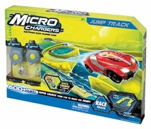 Micro Chargers Jump Track with 2 Electronic Quick Charge Cars and 2 Handheld Chargers - ID27009