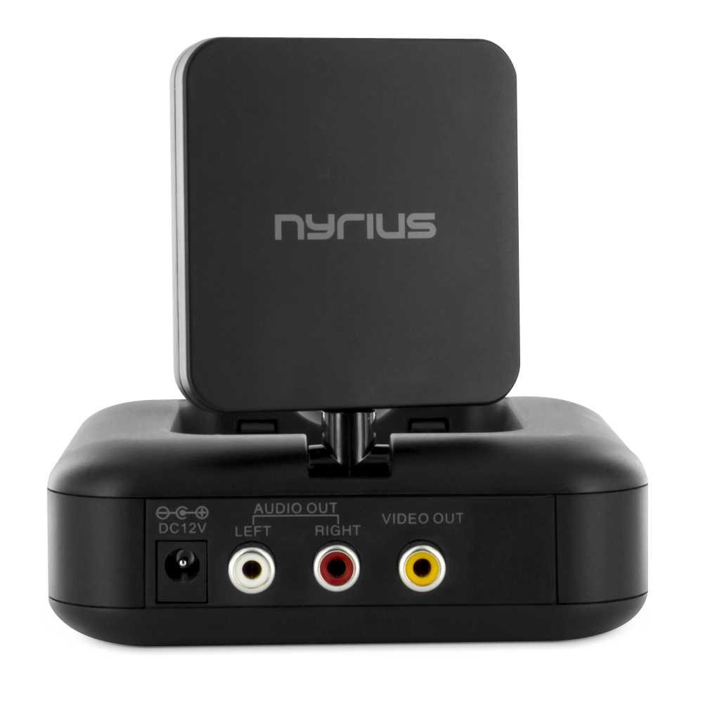Nyrius NY-GS10 5.8GHz 4 Channel Wireless Audio/Video Sender Transmitter & Receiver