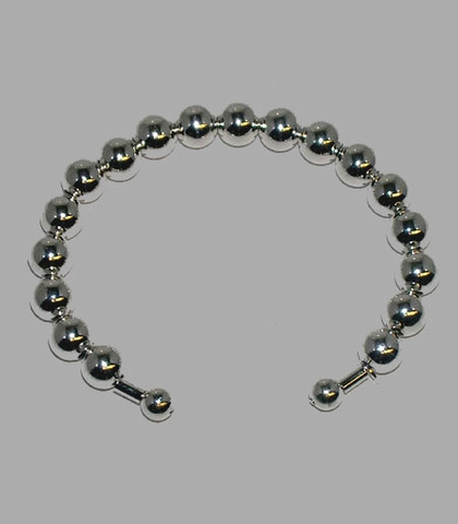 8mm Bead Cuff Bracelet in Sterling Silver, 7.5
