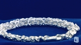 8mm Byzantine Bracelet in Sterling Silver, 7.75""