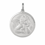 Angel with Wing Silver Pendant
