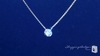 "Bezel Set 5mm Solitaire Diamond CZ Pendant Necklace in Sterling Silver, 16""-18"""