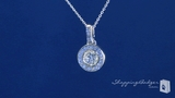 "Bezel Set Solitaire CZ Drop Pendant Necklace in Sterling Silver, Adjustable 16""-18"""