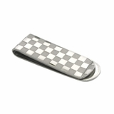 Checkered Stainless Steel Money Clip