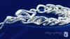 Chunky Double Link Rope Bracelet in Sterling Silver, 8""