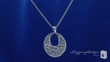 Circle Pendant Necklace in Sterling Silver, 18 inch