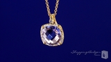 Cushion Cut Lavender Amethyst in 14K Yellow Gold with Diamond Accent, 18""