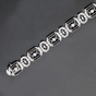 CZ Black Sterling Silver Art Deco Design Bracelet