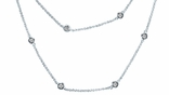 "CZ by the Yard Necklace in Sterling Silver, 16""-54"""