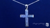 CZ Cross Pendant Necklace in Sterling Silver, 16