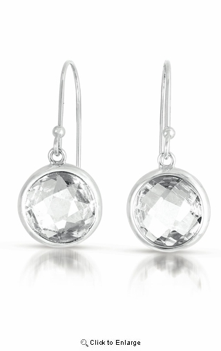"CZ Drop ""Crystal"" Earrings"