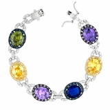 CZ Multi-colored Oval Zirconia Bracelet