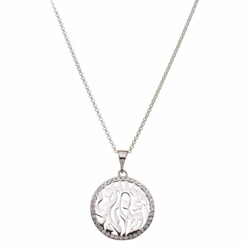 CZ Silver Shema Necklace